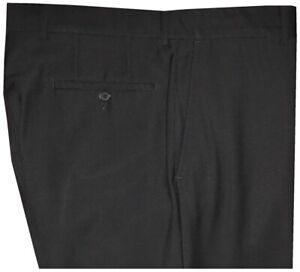 EXCELLENT-HUGO-BOSS-DARK-MIDNIGHT-NAVY-MENS-FLAT-FRONT-DRESS-PANTS-36