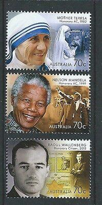 UnabhäNgig Australien 2015 Geehrt Von Australien Nelson Mandela Un.mint Mutter Theresa