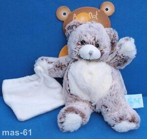 BABY NAT Orso Teddy Peluche Beanie Bear Doudou LAPIN Bébé 20 cm