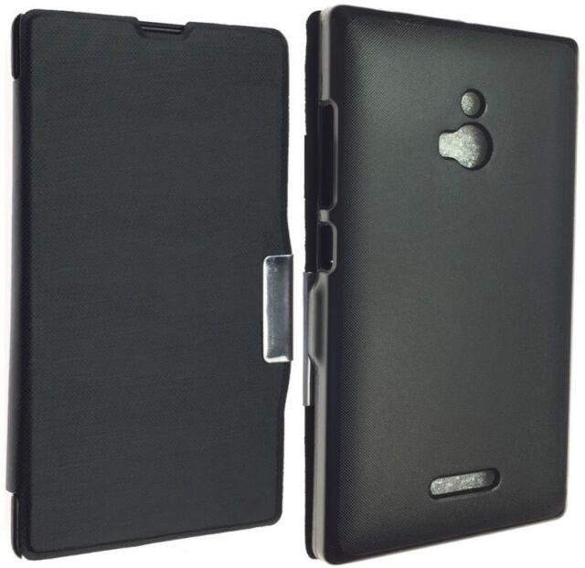 official photos c74f9 66e1e Nokia XL Dual SIM Rm-1030 Rm-1042 Leather Case Luxury Pouch Cover Back  Wallet