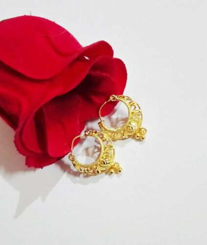 18k Gold Plated Indian Small Earrings Variations Jhumki Women Fashion Jewelry