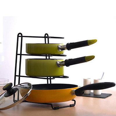 NEW Home Kitchen Storage Racks Organizer Pot Pan Cookware Lid Pantry Rack 553
