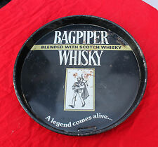 Vintage  BAGPIPER WHISKY Advertising Litho Tin Serving Tray