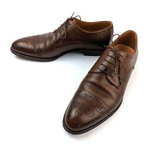 Campanile-9919-Brown-Semi-Brogue-Derby-Blucher-Shoe-Mens-Size-7