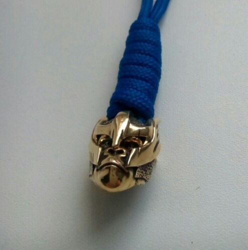 GORILLA  NEW MODEL COLLECTIBLE PARACORD LEATHER LANYARD BEAD HAND-CAST METAL //