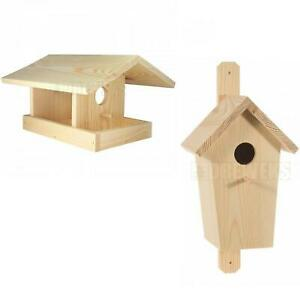 Holz Vogelhaus Garten Legebox Paint Your Own Bird Feeder/Kinder Handwerk | eBay