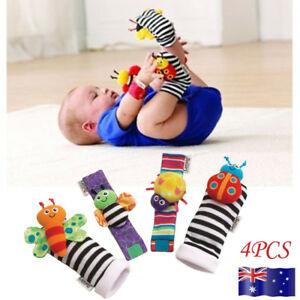 Rattle Set //Baby Sensory Toys Foot-finder Socks//Wrist Rattles Bracelet