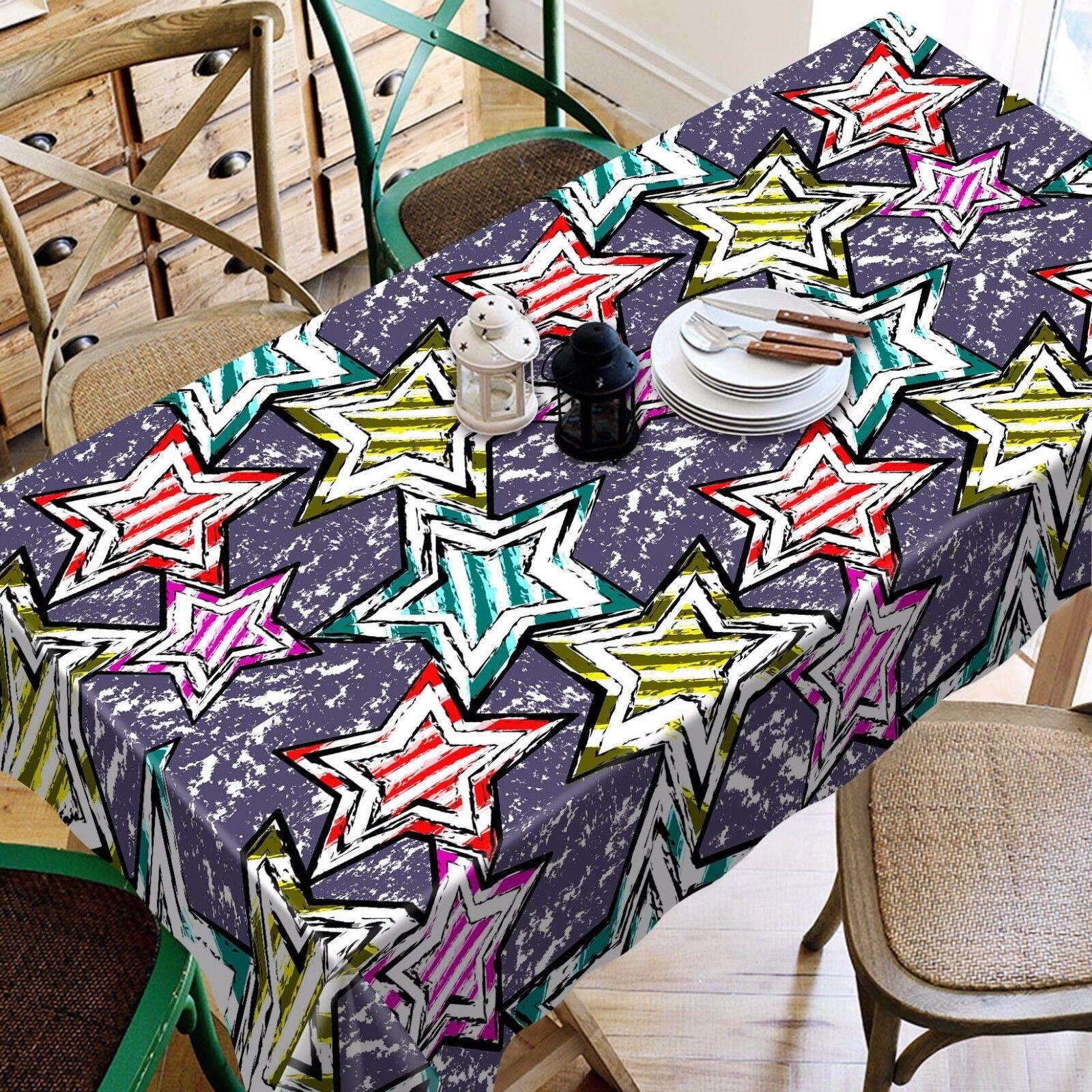 3D étoiles couleur Nappe Table Cover Cloth fête d'anniversaire AJ papier peint Royaume-Uni Citron