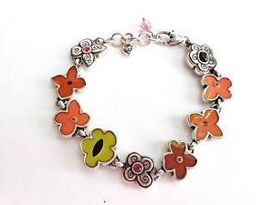 Details About Brighton Meadow Art Enamel Multi Color Flower Bracelet