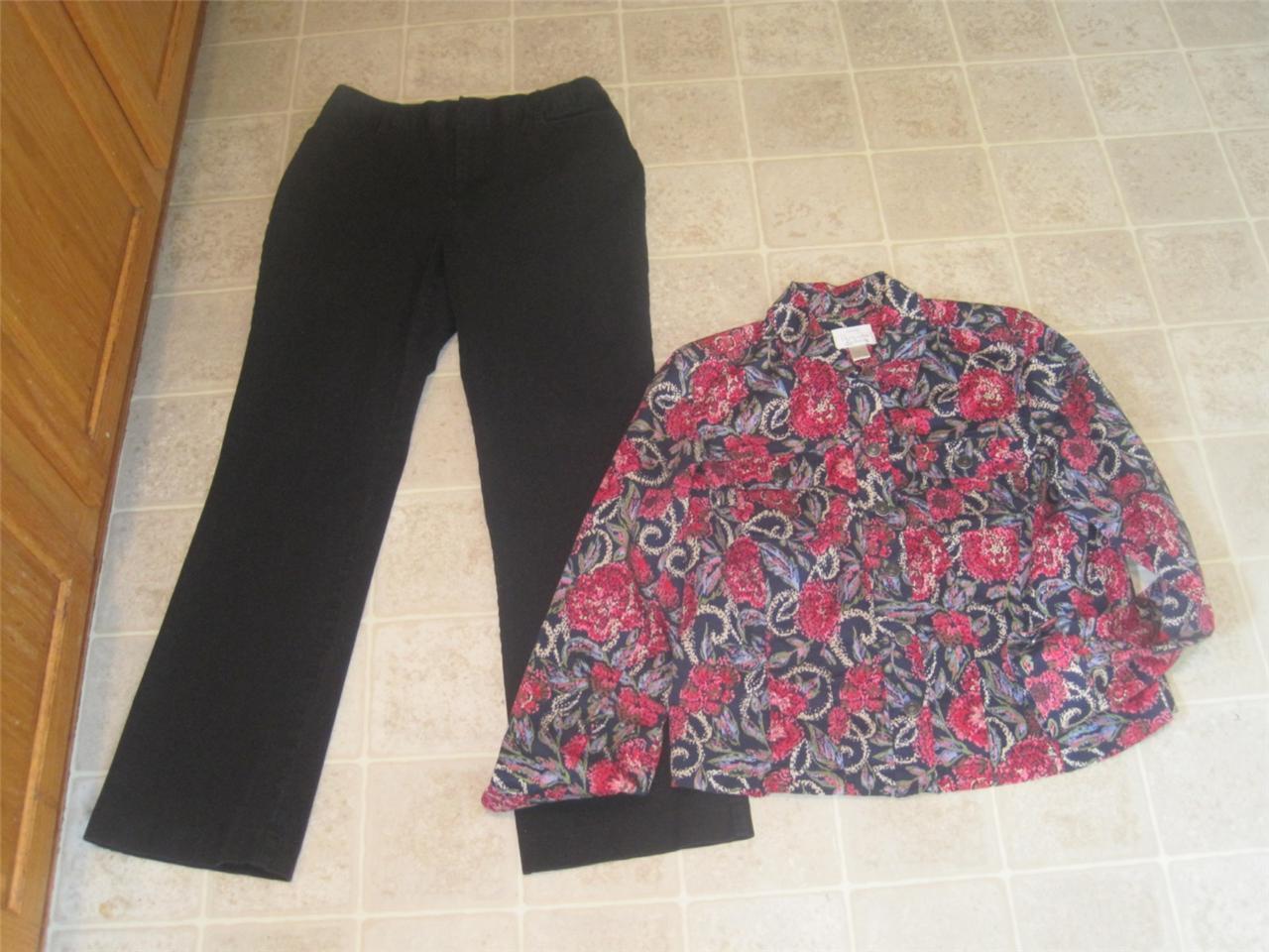 ST. JOHN'S BAY misses sz 10 black pants & CHRISTO… - image 1