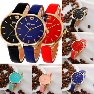 Womens-Fashion-Watches-Faux-Leather-Quartz-Analog-Stainless-Steel-Wrist-Watch