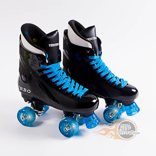 Ventro Pro Turbo Quad Roller Skates Bauer Style Glitter Light Up Wheels