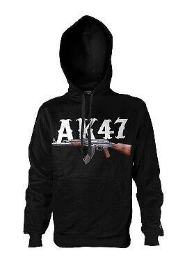 Kalaschnikow AK47 Kapuzen-Sweatshirt Hoodie Kapu 187 neu Crime Waffe Gamer Gun