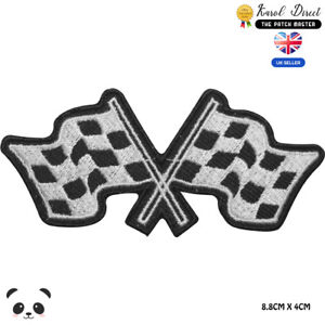 Formula-1-Motor-Sport-Racing-Flags-Embroidered-Iron-On-Sew-On-Patch-Badge