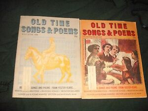Details about Vintage 2 OLD TIME SONGS & POEMS May/June 1968,  November/December 1967