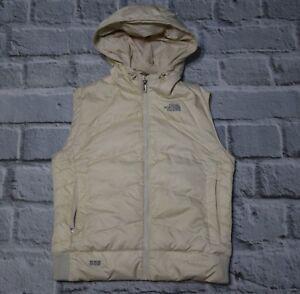 cbdfb8c98c3 The North Face 550 Womens Cream Ivory Hood Down Filled Vest Coat ...