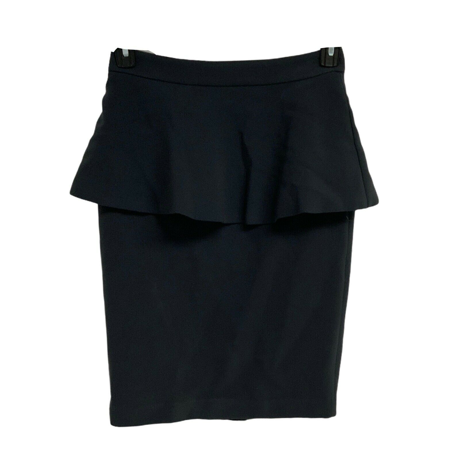 MNG Suit Ladies Peplum Skirt Knee Length Grey Size 6