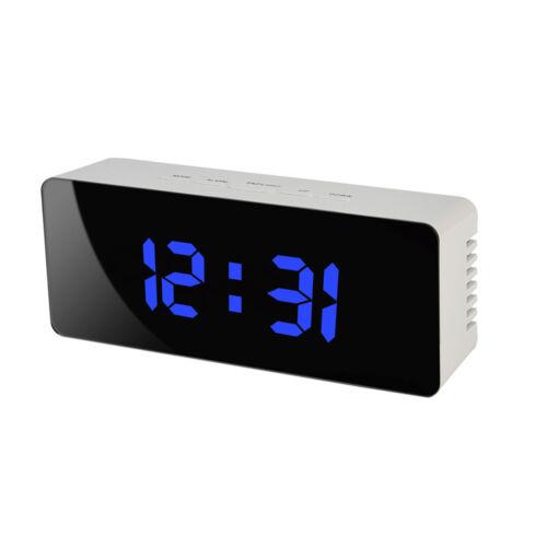 Modern HD Multifunction Mirror LED Alarm Clock Digital Slilent Table Clock SA