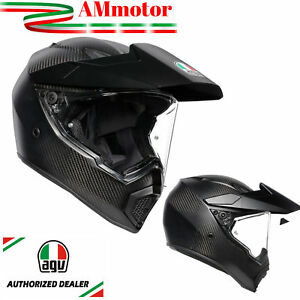 Helmet-Helmet-Agv-AX9-Matt-CarbonFor-Motorcycle-Full-Face-Integral-size-S-55-56