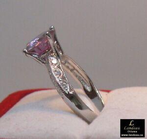 2-56-ct-Pink-Diamond-amp-White-Topaz-Silver-Ring