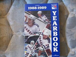 new product 51a1e 37e28 Details about 1988-89 NEW YORK RANGERS MEDIA GUIDE YEARBOOK 1989 Press Book  Program NHL AD