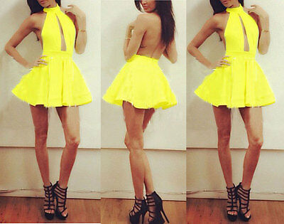 Sexy Women Celeb Backless Party Evening Summer Ladies mini Dress Shorts NEW