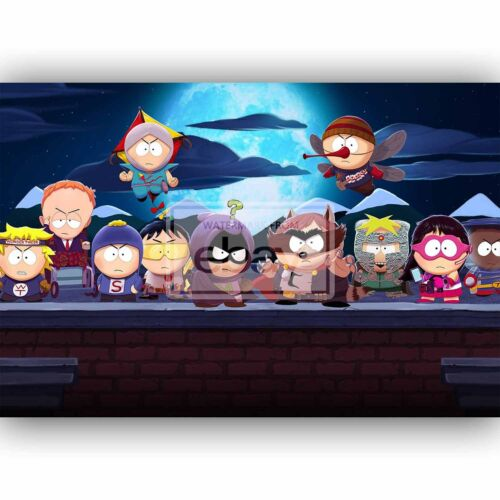 New South Park Night Custom Silk Poster Wall Decor