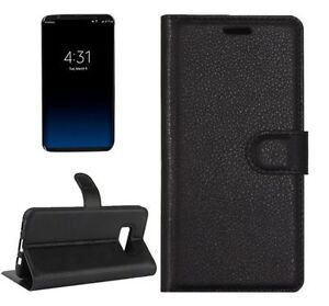 Samsung-Galaxy-S8-Fitted-Wallet-Diary-Style-Litchi-Leather-Case-with-Card-Slots