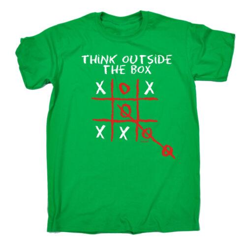Pensare fuori dagli schemi Da Uomo T-shirt Tee Compleanno sarcastico intelligente ironica divertente