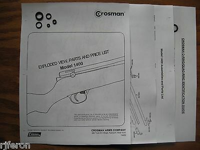 Crosman 1400 Reseal Seal Repair Kit With Exploded View - Parts List & Guide  | eBay