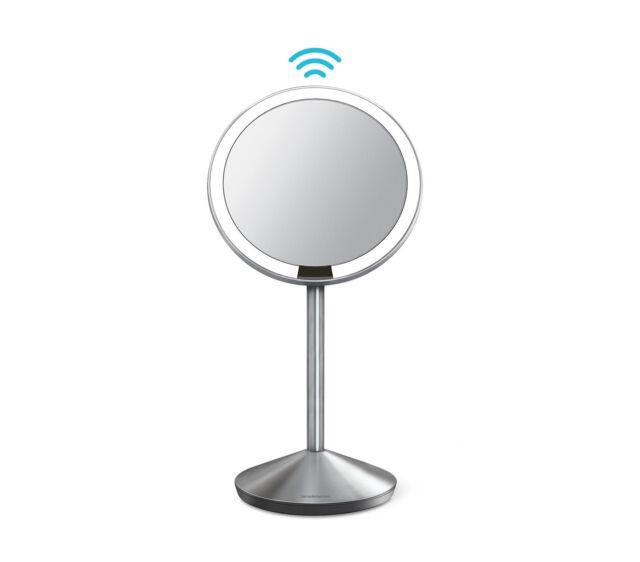 simplehuman 5 inch mini sensor mirror, 10x magnification - certified refurbished