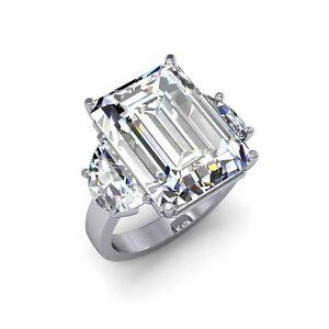 11-5-ctw-Natural-Emerald-Diamond-Simple-3-Stone-Engagement-Ring-I-VS1-GIA