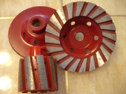 """2/"""" Zero Tolerance Diamond Drum Wheel 3 Coarse Turbo Cup Wheel Concrete Granite"""
