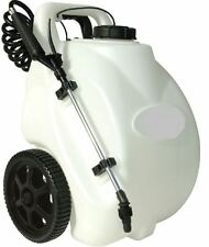 Garden Sprayer On Wheels 12Volt Rechargeable Electric Battery Operated Spot Home