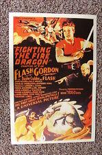 Flash Gordon Fighting the Fire Dragon Lobby Card Movie Poster 9