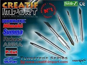 5 Lames Compatible Plotter Summa D New Techno! Universel Tungstene Apparence Brillante Et Translucide