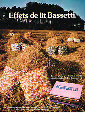 PUBLICITE ADVERTISING  1975    BASSETTI   draps linge de maison