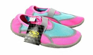 a6c4999ca303 Details about NEW Youth Girls Athletic Works Pink   Blue Swim Water Shoes  Size 13-1