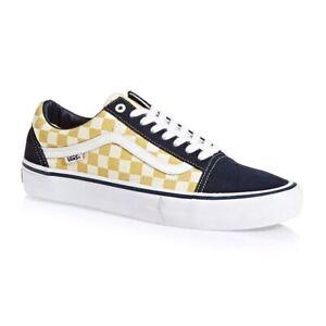 yellow checkered vans sneakers