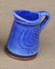 1:12 scala Blu Rotondo Ceramica Brocca DOLL HOUSE miniatura ACCESSORIO CUCINA B60