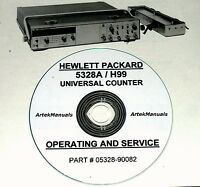 Hewlett Packard Operating & Service Manual For The 5328a-h99 Universal Counter