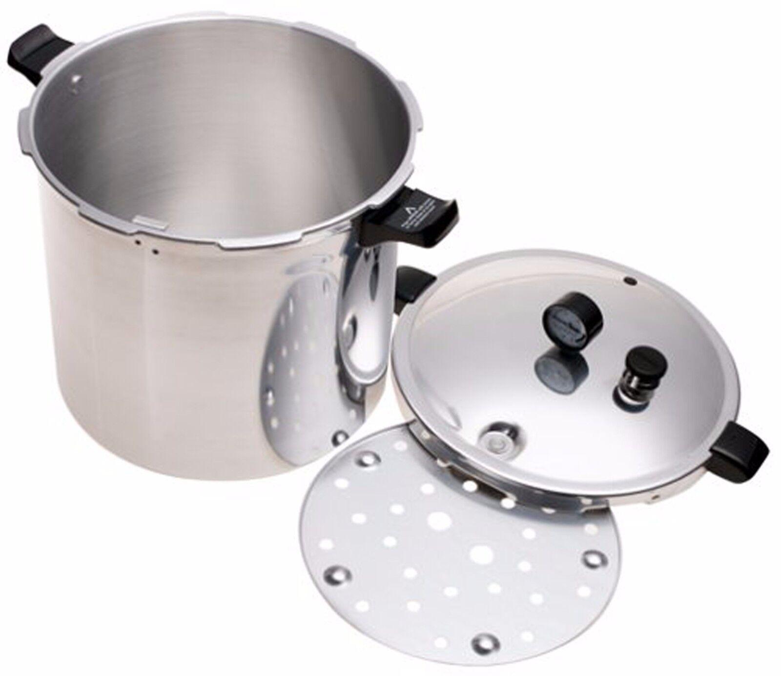 Pressure Cooker Canner Presto 23 Quart Dial Gauge Air Vent Deluxe Aluminium New