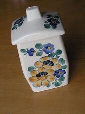 Vintage Wloclawek Boleslawiec Polish Poland HP Pottery Covered Rectangular Jar