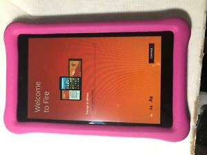 Amazon-Kindle-Fire-8-Pink-Kids-Children-039-s-Edition-32-GB-Kids-Proof-2017-Release
