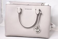 Michael Kors Pearl Grey Whitney Large Leather Satchel