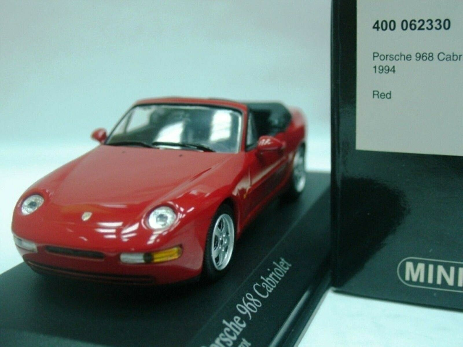 WOW EXTREMELY RARE Porsche 968 3.0L Cabriolet 1994 Red 1 43 Minichamps-924 944