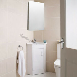 Lastest Bathroom Corner Cabinet White Storage Unit 1 Door Cupboard Floor