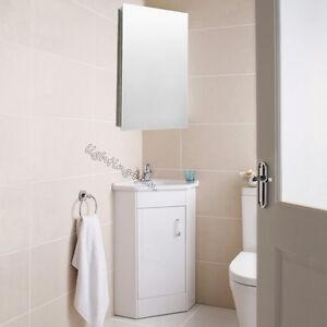 Stainless Steel Wall Hung Bathroom Corner Mirror Storage ...