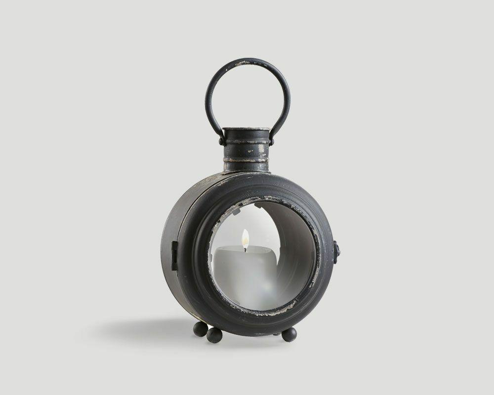 Windlicht Kerzenständer Kerzenhalter Vintage Dialma braun aus Metall in in in schwarz 657230