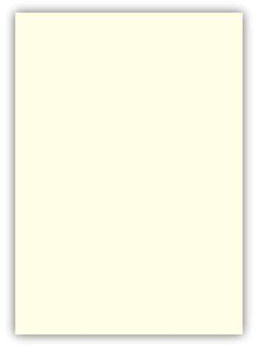 50 Blatt farbiges Premium Briefpapier Caribic DIN A4 Farbe Creme Beige Perlweiß